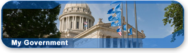 My government section banner with photo of the Oklahoma state capitol.